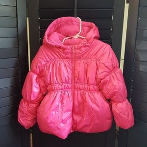 Old Navy Girls sz 5T zip up puffy coat hoodie